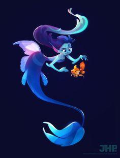 ArtStation - Mermaid, João Henrique Pachêco