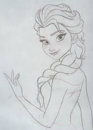 Final clean up drawing. Pencil and paper. Final clean up drawing. Pencil and paper. Frozen Drawings, Disney Drawings Sketches, Girl Drawing Sketches, Disney Princess Drawings, Art Drawings Sketches Simple, Cartoon Drawings, Cute Drawings, Drawing Disney, Pencil Drawings