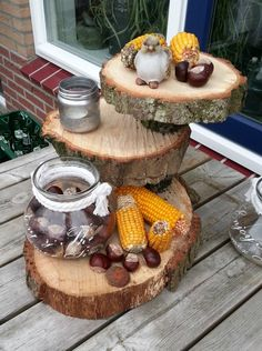 DIY | Herfst | Buiten herfst etagere | decoratief | how to | recycle | tips | creatief