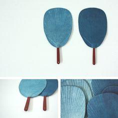 sugiyama emido - indigo-dyed washi fan