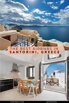 Wondering where to stay in Santorini? Here are the 12 best Airbnb Santorini Greece options! Santorini Greece, Athens Greece, Crete Greece, Cheap Hotels In Santorini, French Polynesia Honeymoon, Best Hotels In Greece, Calabria Italy, Sardinia Italy, Viajes