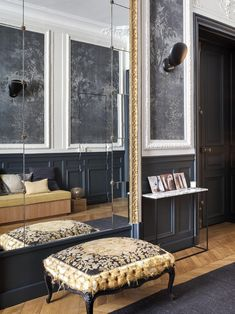 Entryway in grand Paris apartment.