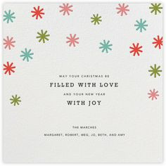 Petit Collage Holiday Card  Confetti Stars - BACK - Paperless Post