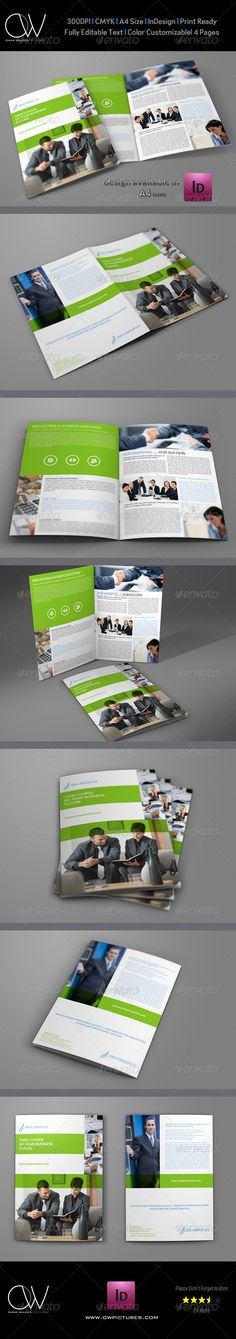 Company Brochure BiFold Template Vol.19 — InDesign INDD #Multipurpose Brochure #real estate • Available here → https://graphicriver.net/item/company-brochure-bifold-template-vol19/6913553?ref=pxcr
