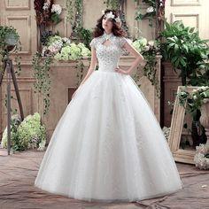 vestido de noiva renda bordado princesa barato frete gratis