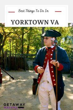 "Yorktown VA is where ""stuff got real"" for the Continental Army during the American Revolution. The quaint port village of Yorktown is surrounded by the Colonial National Historic Park, which includes, of course, the Battlefield. But there are other charms to this riverfront town, including Historic Yorktown and one of the best interpretive Living History Museums in the country. Click on the pin for info on what to do, where to eat, and where to stay in Yorktown VA. Continental Army, American Revolutionary War, Top Restaurants, Culture Travel, Usa Travel, Historical Sites, Weekend Getaways, Dream Vacations, Museums"