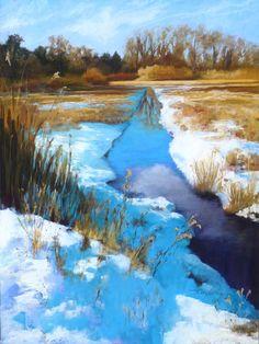 Art Society Hosts Annual Juried Show Landscape Walls, Winter Landscape, Landscape Paintings, Watercolor Paintings, Pastel Paintings, Landscapes, Painting Snow, Winter Painting, Art Society
