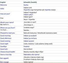 swahili word for princess
