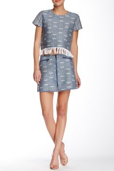 Brocade Mini Skirt by Allison Collection on @HauteLook
