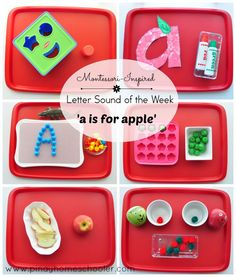 Activities for learning the letter a sound. From 18-24 months old toddler.