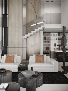 Living Room Designs, Living Room Decor, Black And White Living Room, Penthouse Apartment, Luxury Dining Room, Australian Homes, Living Room Inspiration, Sofa Furniture, Luxury Homes