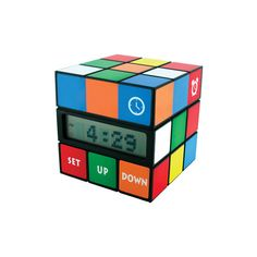 Rubik's cube clock (195 DKK) ❤ liked on Polyvore featuring home, home decor, clocks, accessories, clock, other, random, men, battery powered alarm clock and cube alarm clock
