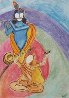 """ Aura of Devotion "" a chalk pastel creation"