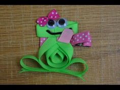 DRAGONFLY Ribbon Sculpture Spring Bug Animal Hair Clip Bow DIY Free Tutorial by Lacey - YouTube