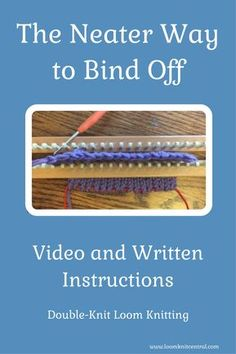 Great video on bind-off for double-knit looming! Great video on bind-off for double-knit looming! Bind Off Knitting, Loom Scarf, Loom Knitting Stitches, Loom Knit Hat, Loom Knitting Projects, Double Knitting, Knifty Knitter, Knitting Machine, Hand Knitting
