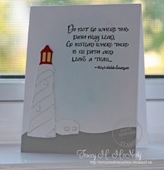"""Lighthouse die, """"Do Not Go"""" quote: Serendipity Stamps, nautical, summer, In My Creative Opininion"""