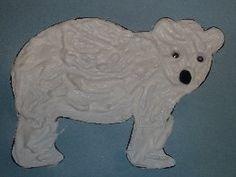 """""""Polar Bear, Polar Bear"""" - bear made from shaving cream and glue - good for winter unit"""