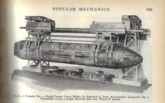 Pop mech 1925 bullet train
