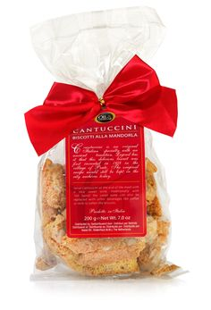Cantuccini are popular crunchy Italian cookies with almonds of the highest quality. You can dip the cantuccini in your coffee, tea, sweet wine, Amaretto or other drinks to make them soft.