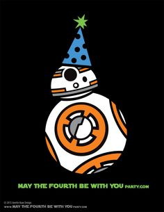 DIY BB-8 May the Fourth be with You Party Star Wars Day T-shirt/Stencil Pattern…