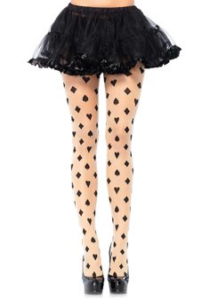 Sexy Sheer Woven Card Suit Tights Pantyhose Stockings Queen of Hearts Costume Alice In Wonderland Outfit, Wonderland Costumes, Wonderland Party, Hold Up Stockings, Sexy Stockings, Visual Kei, Poker, Harajuku, Queen Of Hearts Costume