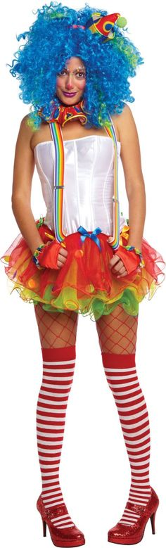 Adult Sassy Clown Costume - Party City