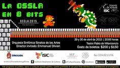 """Temporada de eventos Escena 2015 presenta """"La OSSLA en 8 bits"""" 29 y 30 de abril de 2015 a las 20:00 horas en el Teatro Pablo de Villavicencio. Boletos en Taquilla $150 y $200 pesos. #Culiacán, #Sinaloa."""