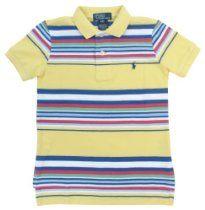Polo Ralph Lauren Boys Striped Mesh Pony Logo Polo Shirt