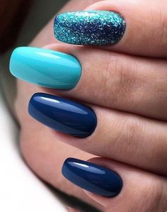 90 Everyday Nail Art Ideas 2019 in our App. 90 Everyday Nail Art Ideas 2019 in our App. Daily ideas of manicure and nail design. Gorgeous nails always! ideas of manicure and nail design. Gorgeous nails always! Cute Acrylic Nails, Acrylic Nail Designs, Nail Art Designs, Nails Design, Blue Nails With Design, Winter Nail Designs, Winter Nail Art, Hair And Nails, My Nails