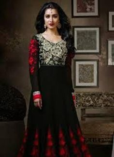 Anarkali Black Shalwar Suits 2015-16 For Ladies (2)