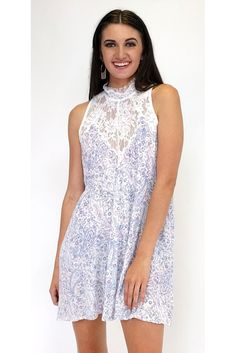 Pretty Pink & Perfect Purple Paisley Print Dress | Current Boutique