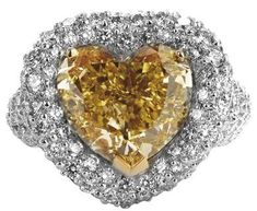 Diamond ring - heart shaped perfect for Valentine's Day! hint hint..