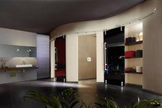 Around the bend! VARIO sliding door / MWE / Designed by Mario Wille / www.mwe.de/en/door-systems/sliding-doors/vario-sliding-door-system