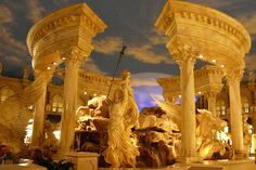 Important casino hotel located between Bellagio and The Mirage on the famous Las Vegas Strip, Caesars Palace is completely immersed in Romanesque (if not exactly accurate & a bit Hollywood) decor. © Nicole Dubois