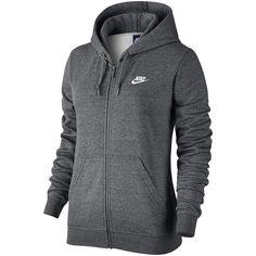 Nike Long-Sleeve Fleece Hoodie ($60) ❤ liked on Polyvore featuring tops, hoodies, fleece lined hoodie, fleece hooded sweatshirt, fleece hoodies, hooded sweatshirt and fleece tops