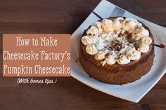 Pumpkin Cheesecake Recipe from the Cheesecake Factory