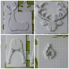 Ironing Models – Do it yourself … Reindeer – Iron Beads … – DIY Art – Hama Beads Melty Bead Patterns, Pearler Bead Patterns, Perler Patterns, Beading Patterns, Perler Bead Designs, Hama Beads Design, Christmas Perler Beads, 3d Christmas, 3d Perler Bead