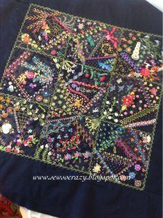 CRAZY QUILT EXAMPLE............PC............Sew So Crazy!©: Colour, colour, colour - crazy quilting by Judith