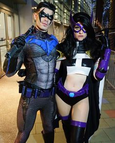 New 52 nightwing cosplay google search robin pinterest our good friend dynamitewebber and his partner in crime whoanerdalert as nightwing and huntress solutioingenieria Images