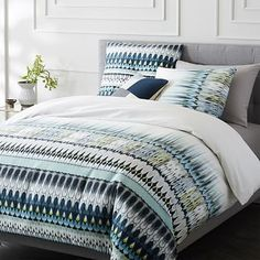 400-Thread-Count Organic Sateen Bohemian Border Duvet Cover + Shams #westelm