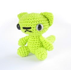 Green kitty named Lime.
