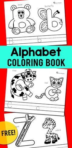 FREE alphabet coloring pages that can be turned into a cute book. Preschool kids will love to color these worksheets while learning letter sounds, handwriting and fine motor skills.