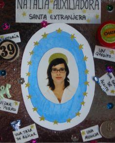 Natalia auxiliadora. Collage en caja de madera. 31X21X8cm