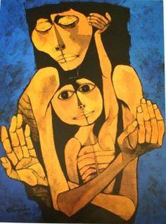 Oswaldo Guayasamín (Ecuador), Madre y Niño, Edad de la Ternura