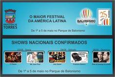 Shows Nacionais em Torres no Festival de Balonismo