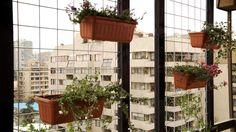 En general las terrazas se pueden dividir en dos para tener ambientes separados, por ejemplo en un lado una mesa y en otro un sillón. Este límite se puede marcar con un bastidor de madera y malla que sirva como separador, si la malla es lo suficientemente firme, además, se pueden colgar jardineras con plantas trapadoras, cubresuelos y tapizantes, que se enredarán y colgarán por la malla, formando un lindo cerco decorativo. Outdoor Structures, Wood, Ideas, Verandas, Window Boxes, How To Build, Open Spaces, Mesh, Decks
