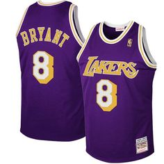 6d869c6f91af Mitchell   Ness Los Angeles Lakers  8 Kobe Bryant Purple 1997 Authentic  Hardwood Classics Road Jersey