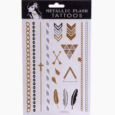 rhinestone-s: Metallic Flash Tattoos