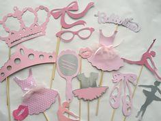 LA bailarina rosa y gris Foto accesorios de cabina