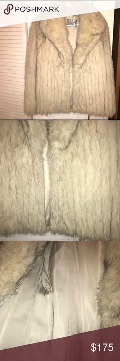 SagaFox Fur Coat Jacket SZ M EXCELLENT Saga Fox Fur Coat Worn Once  Pre Owned in Great Condition  Excellent lining no rips no tears no stains   Item will arrive from a smoke free environment free of any issues thanks for looking remember to check out my other items  Thank You Saga Furs Jackets & Coats